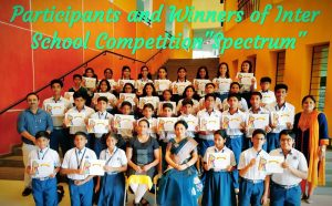 """Participants and Winners of Inter School Competition """"Spectrum"""""""