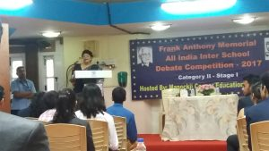The Frank Anthony Memorial All-India Inter-School English Debate Competition