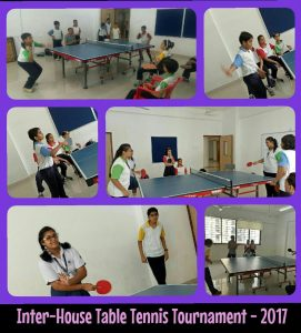 Inter-House Table Tennis Tournament 2017