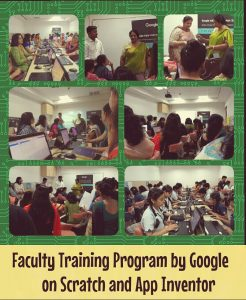 Faculty Training Program by Google on  Scratch and App Inventor.