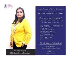 Lodha Institute of Teacher Education presents. 'The Knowledge Series'